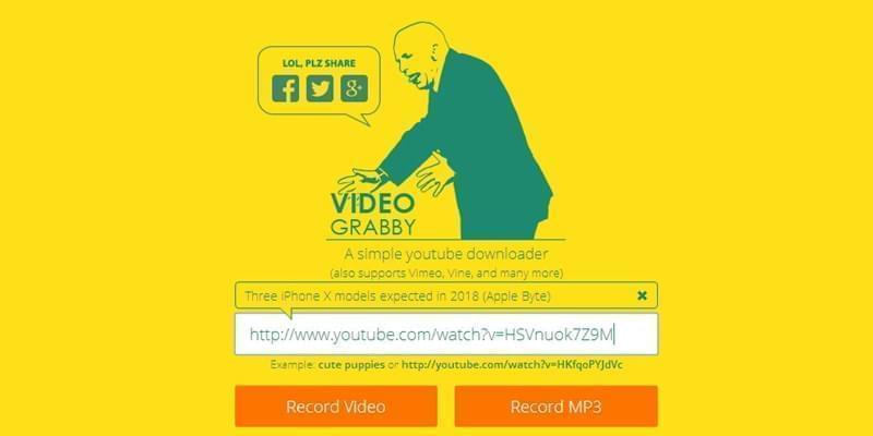 Video mit Videograbby herunterladen