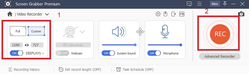 sgpremium recording mode step3