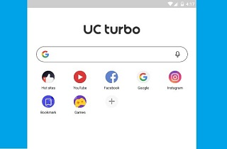 uc browser homescreen