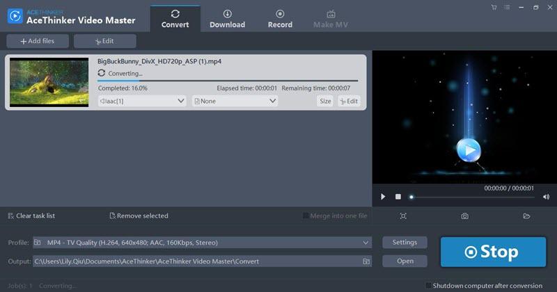 Video Master converting