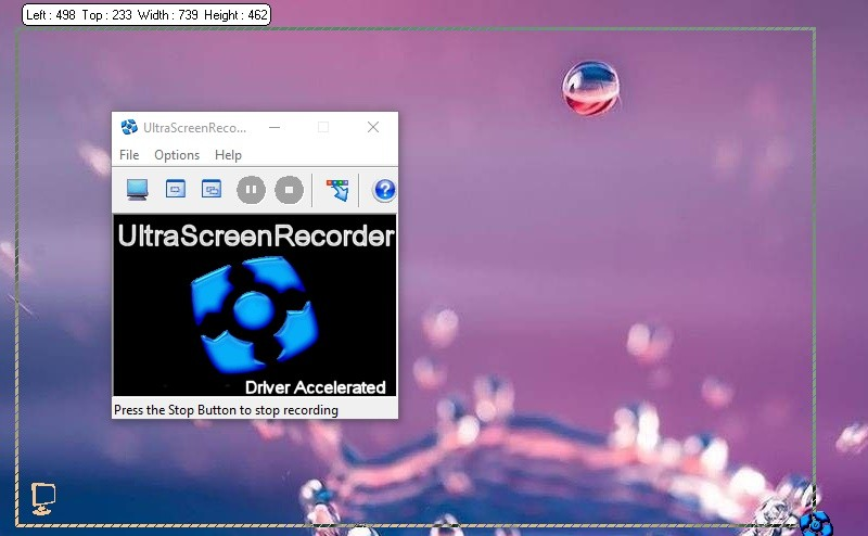 app interface ultravnc screen recorder