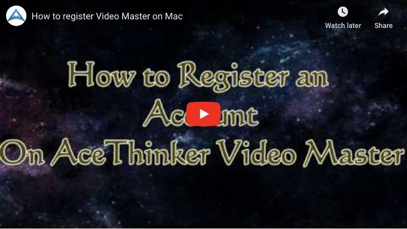 Videomaster für Mac registrieren