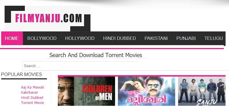 filmyanju webpage screenshot