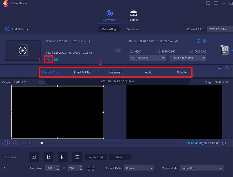 vm edit video