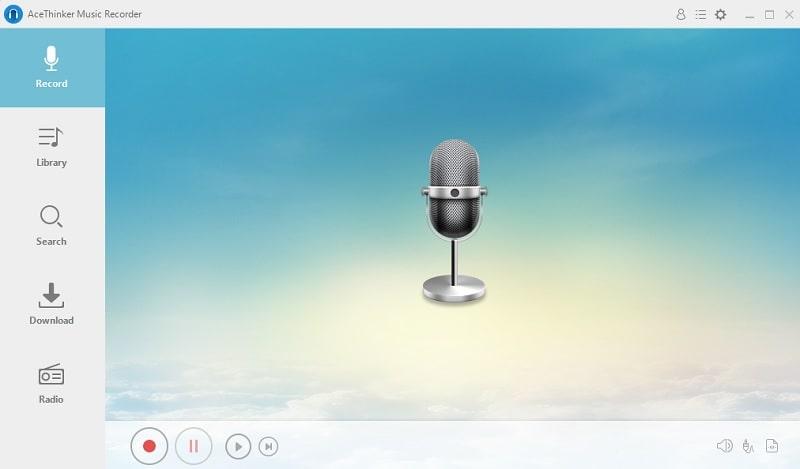 music recorder interface