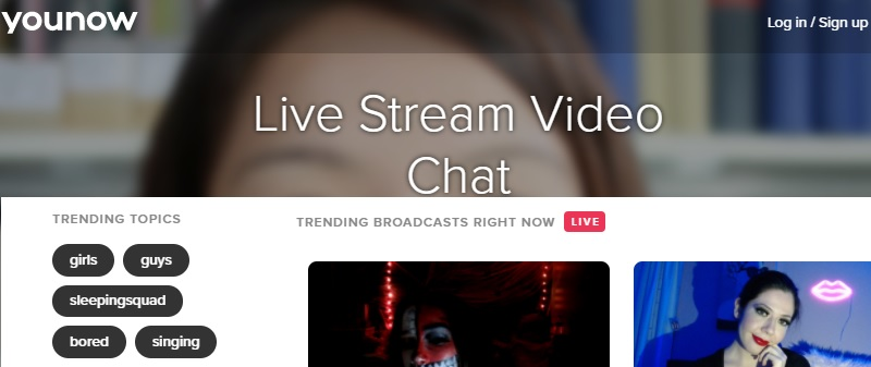 younow interface