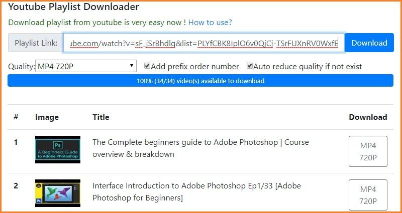 Youtube Multi Downloader Online-Weboberfläche