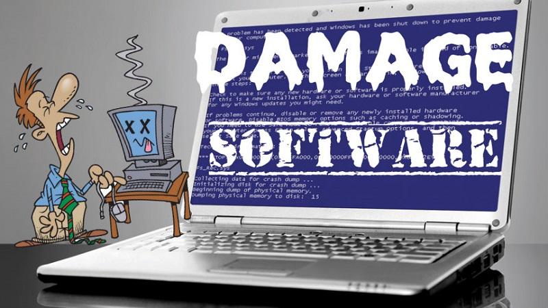 Software beschädigen