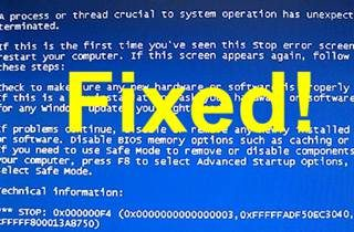 How to Resolve Stop 0x000000f4 Blue Screen Error