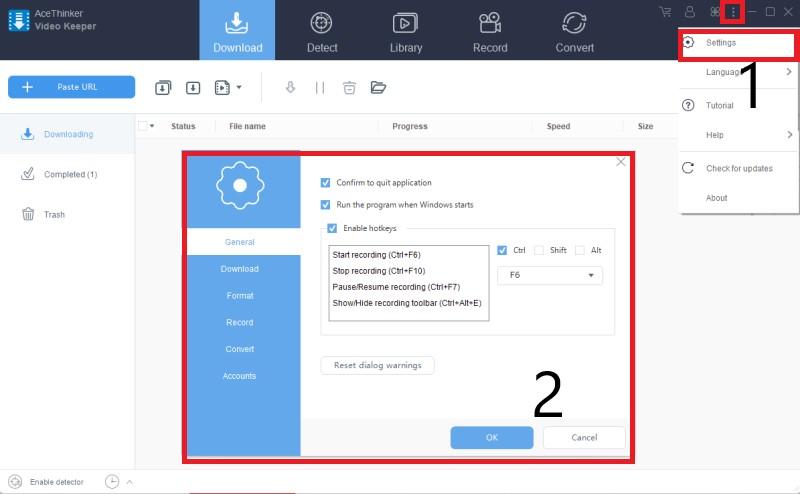 download livestream video vk configure
