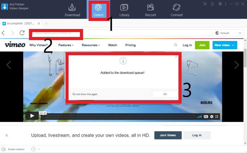 download livestream video vk detect