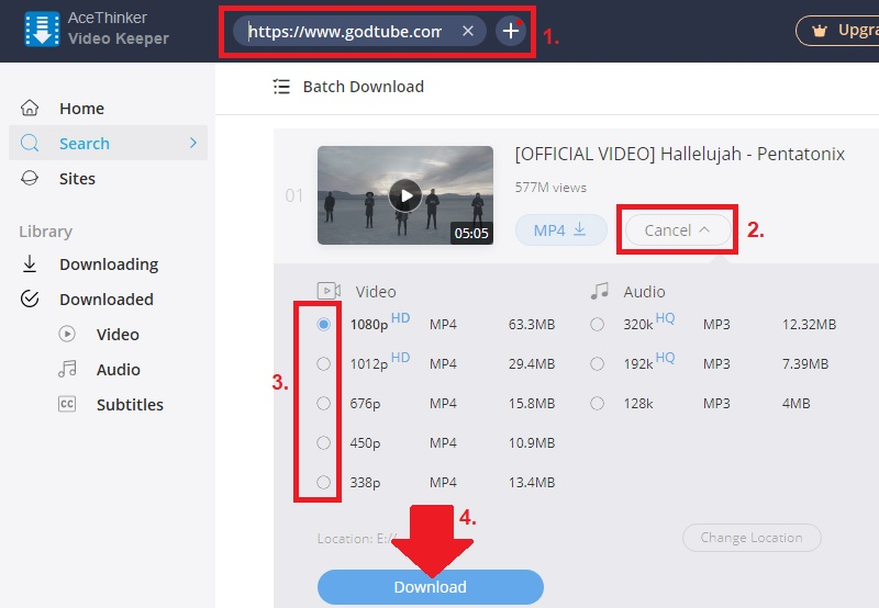 godtube download vk step2