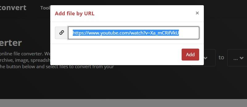 youtube to 3gp cloudconverter step2