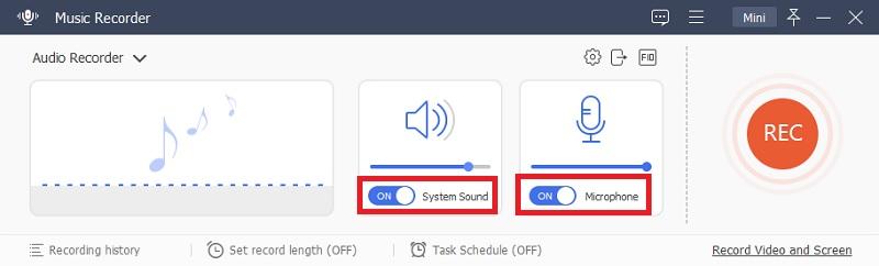 music recorder audio source