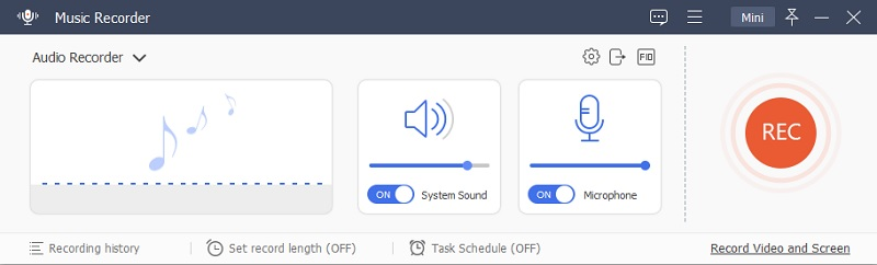 music recorder interface