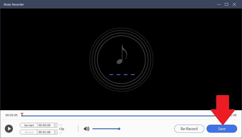 music recorder save recording