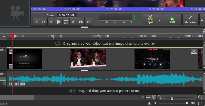 video pad editing feature