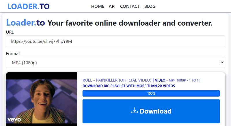 download 1080p video loader.to interface