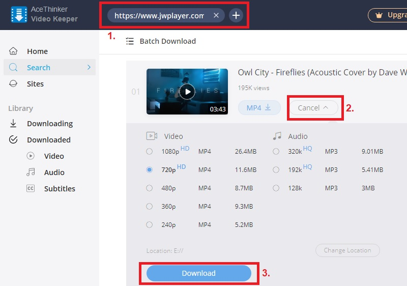 download jwplayer vk step2