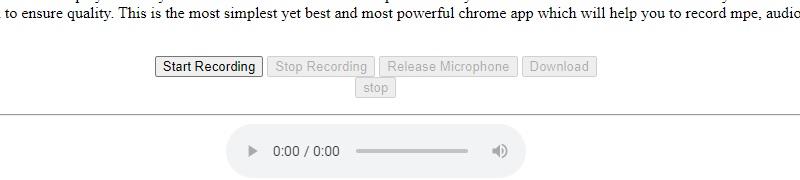 best chrome audio capture audio voice recorder