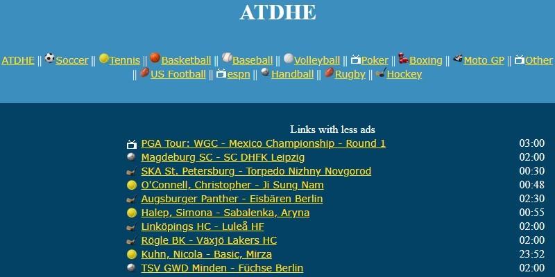adthe homepage
