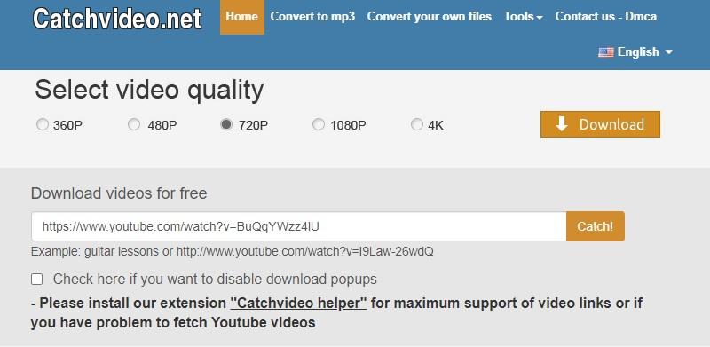 catchvideo interface