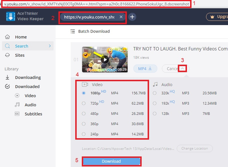 vk download youku