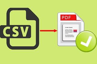 convert CSV to pdf