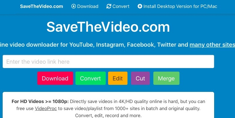savethe video