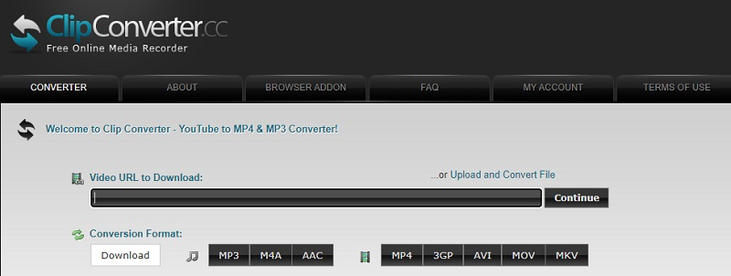 clip converter main interface