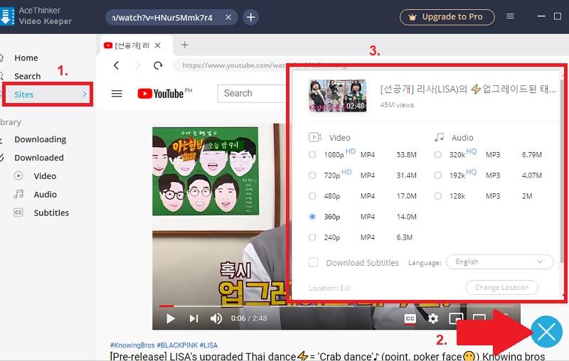 fastest youtube downloader vk step2