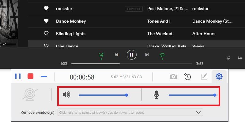 sgpremium record audio