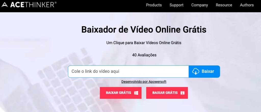 Baixador de vídeo