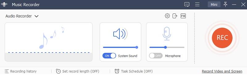 music recorder main interface