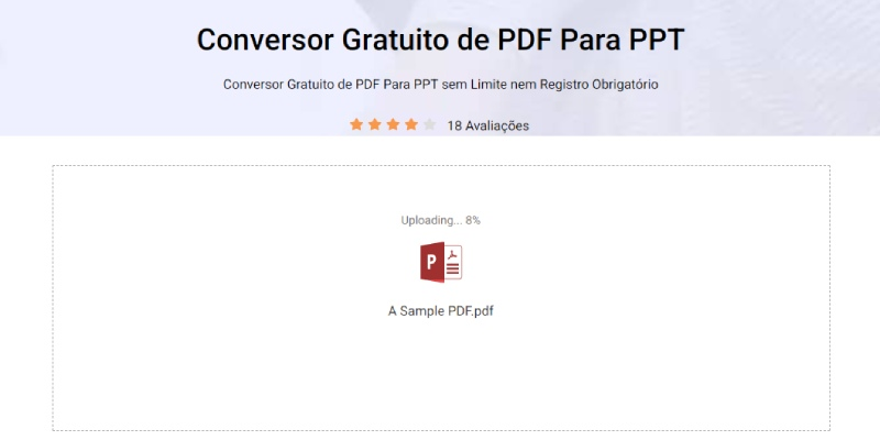 import pdf for conversion