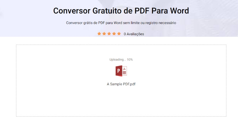 select pdf for conversion
