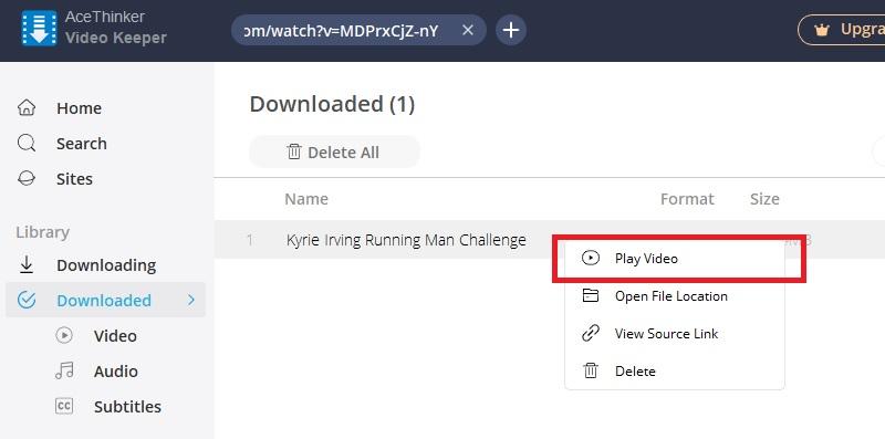 download running vk step3