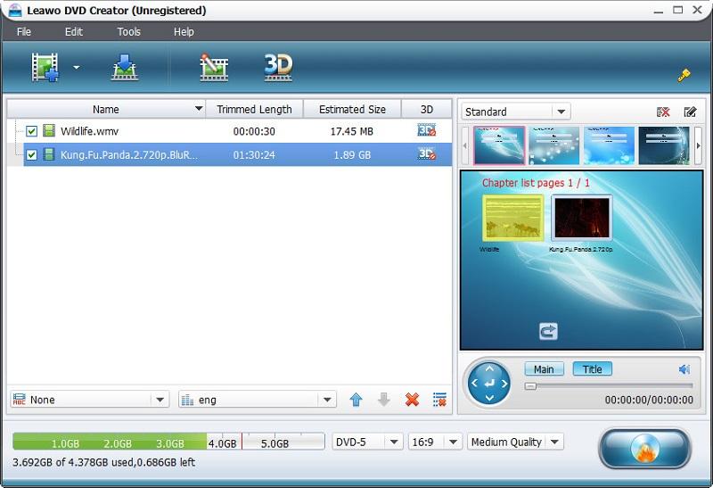 laewo dvd interface