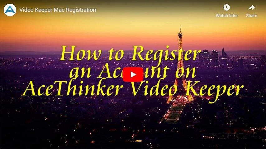 register video keeper mac