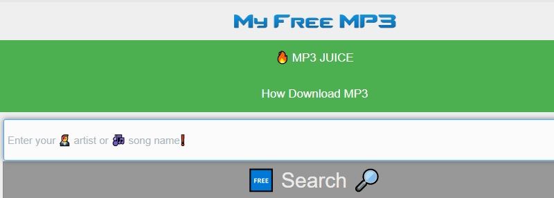 mp3 alternative myfreemp3 interface
