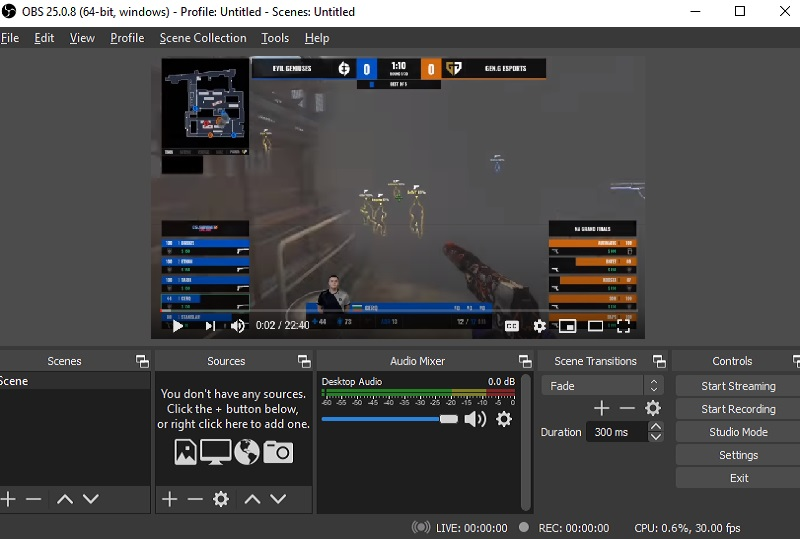 obs main interface