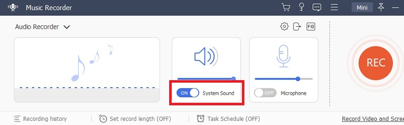 music recorder system sound mode