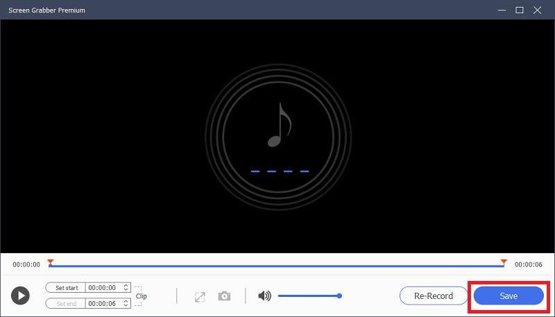 sgpremium save audio recording