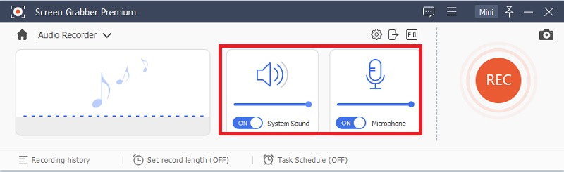 sgpremium select audio source