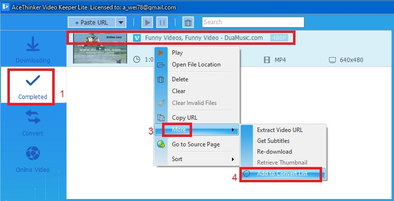 videokeeperlite vimeo convert step3
