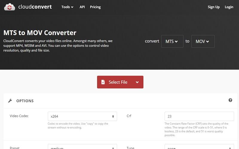 convert-cloudconvert-interface