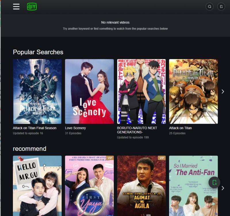 download iqiyi video iqiyi interface