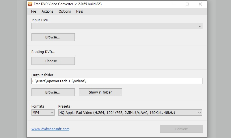 dvdvideosoft interface
