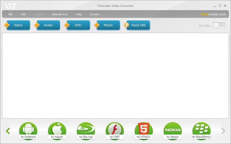 freemakeconverter interface