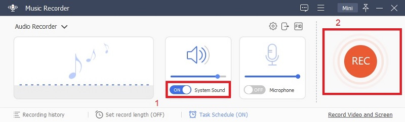 music recorder system sound